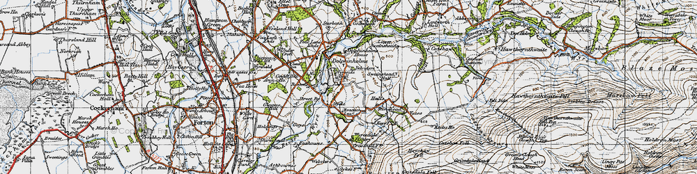 Old map of Wyreside Hall in 1947
