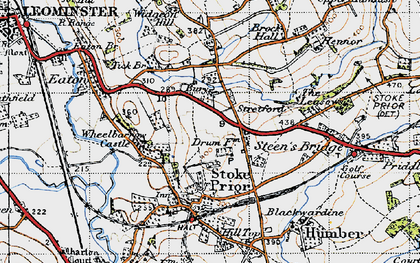 Old map of Wheelbarrow Castle in 1947
