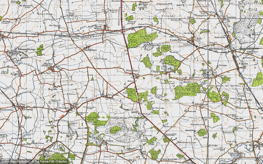 Old Map of Historic Map covering Woolfox Wood in 1946