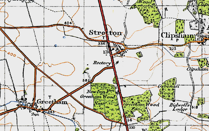 Old map of Woolfox Wood in 1946