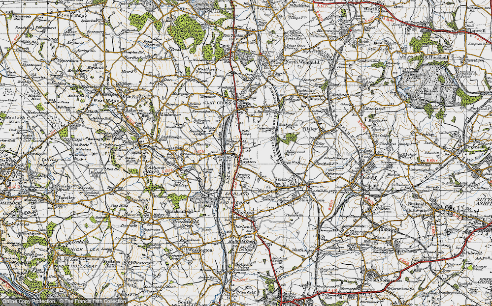 Old Map of Stretton, 1947 in 1947