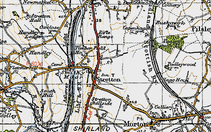 Old map of Stretton in 1947
