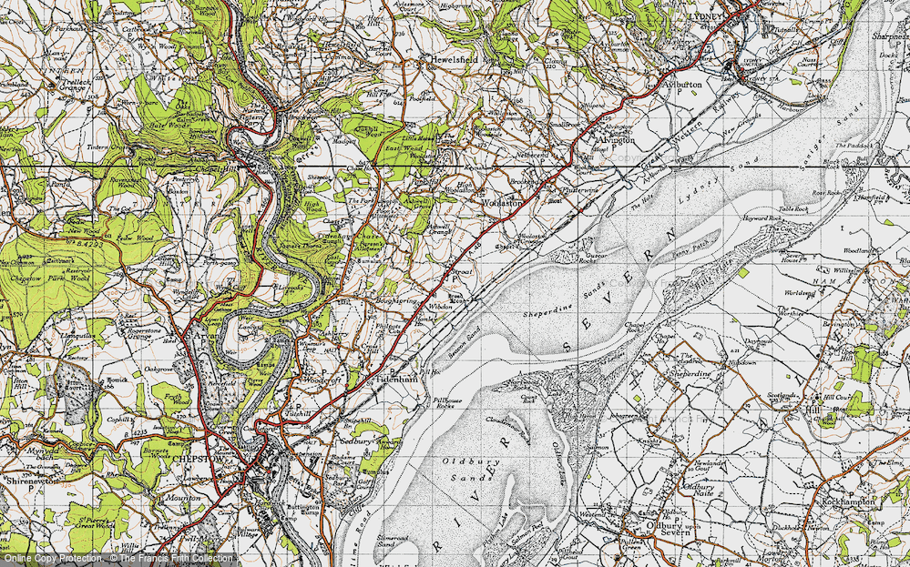Old Map of Historic Map covering Ashwell Grange in 1946