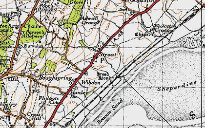 Old map of Ashwell Grange in 1946