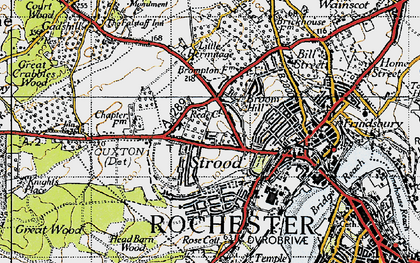 Old map of Strood in 1946