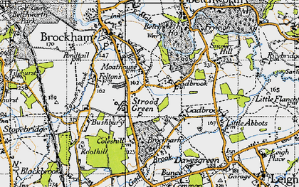 Old map of Strood Green in 1940