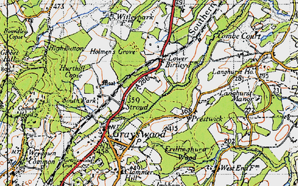 Old map of Stroud in 1940