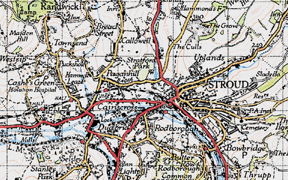 Old map of Stroud in 1946