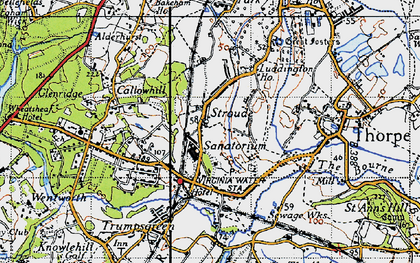 Old map of Stroude in 1940