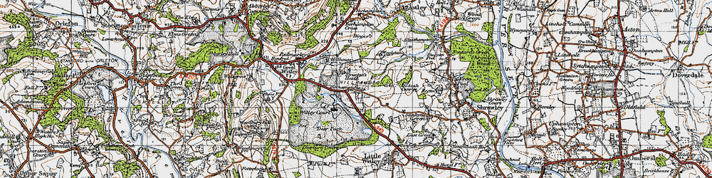Old map of Witley Court in 1947