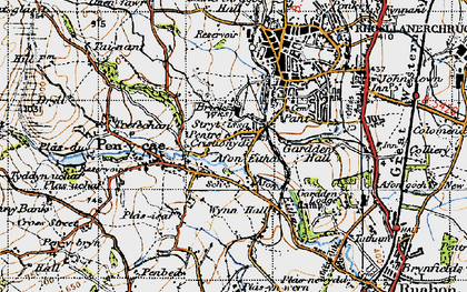 Old map of Wynn Hall in 1947