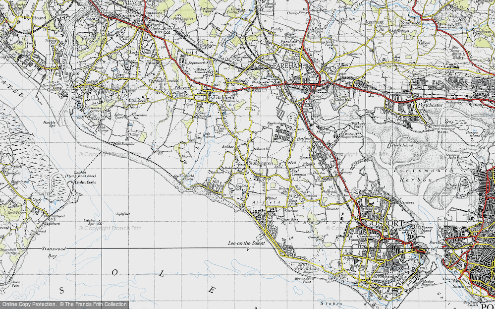 Old Map of Stubbington, 1945 in 1945