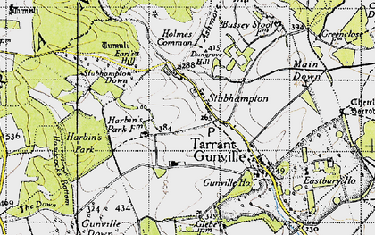 Old map of Ashmore Bottom in 1940