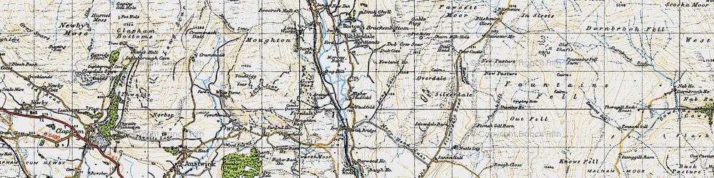 Old map of Arcow Quarry in 1947
