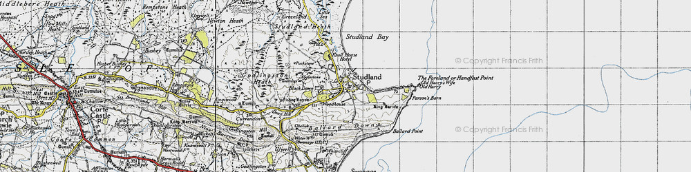 Old map of Agglestone in 1940