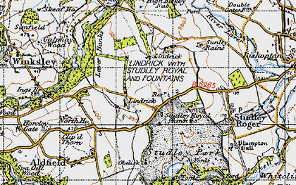 Old map of Studley Royal in 1947