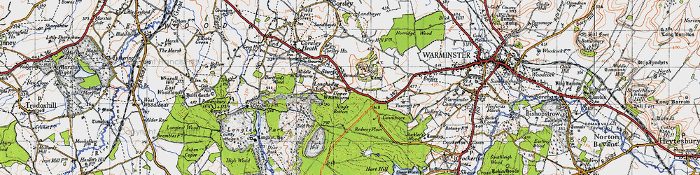 Old map of Whitbourne Springs in 1946