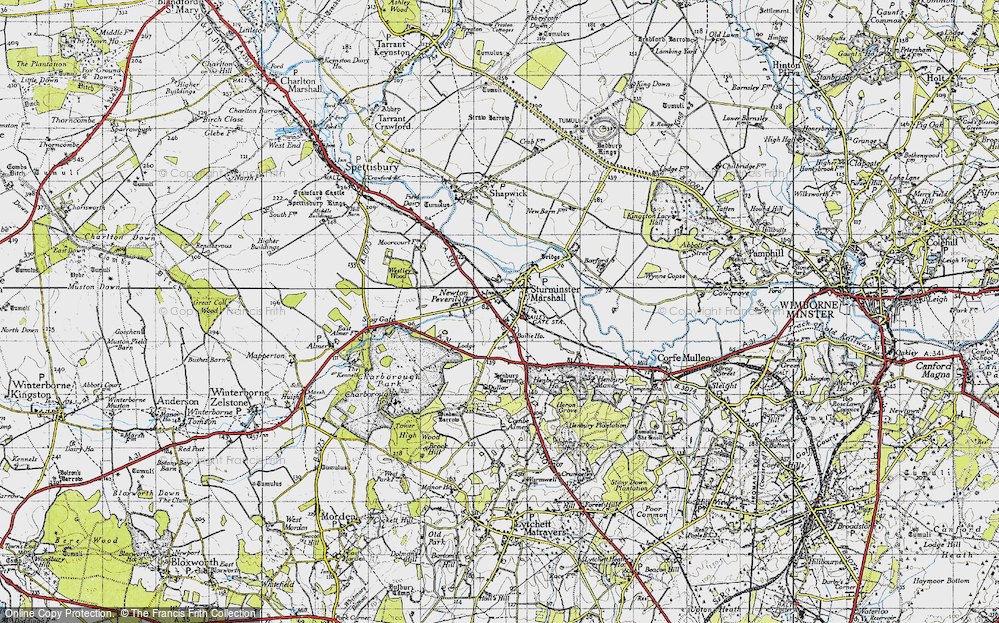 Old Map of Historic Map covering Bailie Ho in 1940