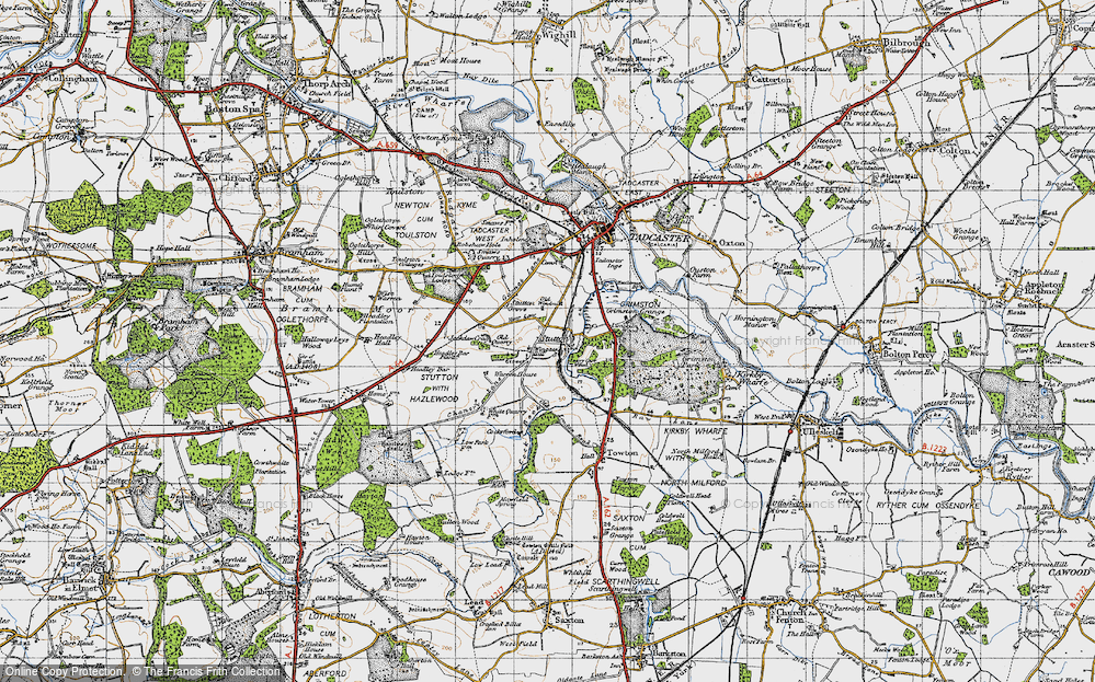 Old Map of Historic Map covering Limekiln Wood in 1947