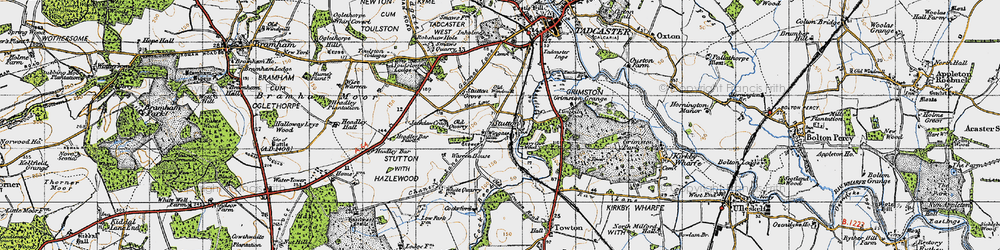 Old map of Wingate Hill in 1947