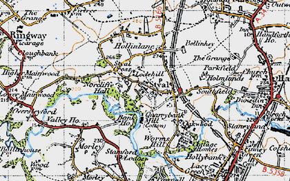 Old map of Styal in 1947