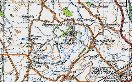 Old map of Styche Hall in 1947