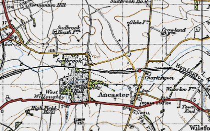 Old map of Sudbrook in 1946
