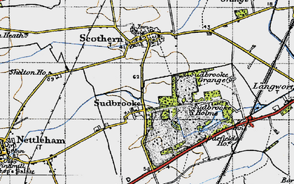 Old map of Barfield Ho in 1947