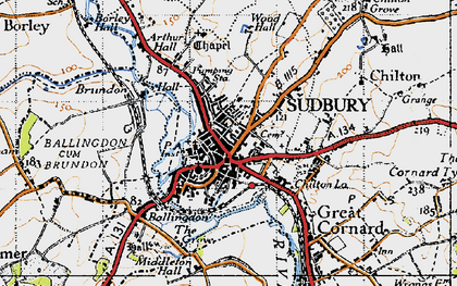 Old map of Sudbury in 1946