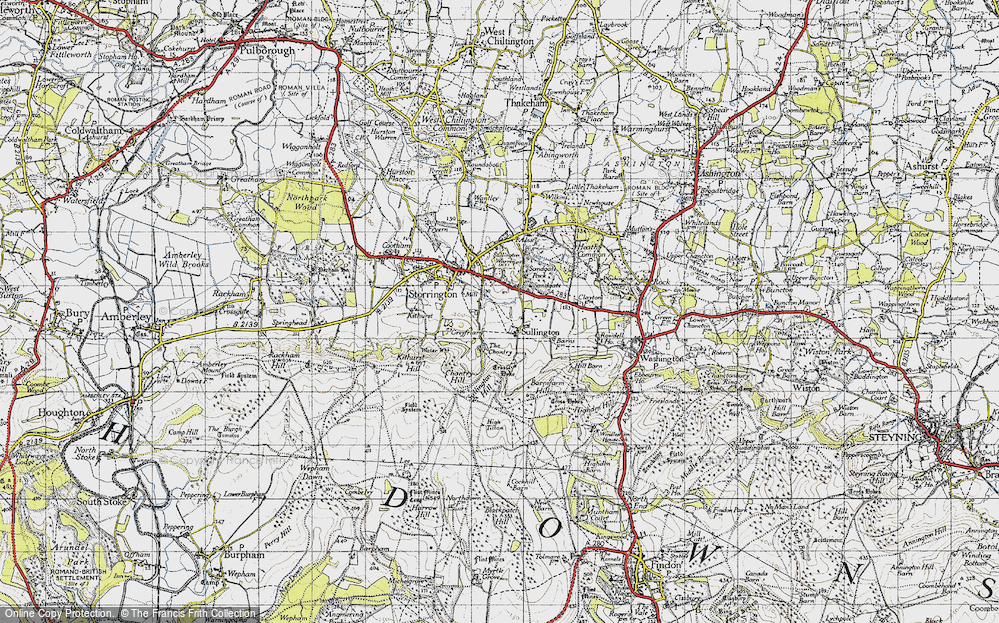 Old Map of Historic Map covering Abbots Leigh in 1940