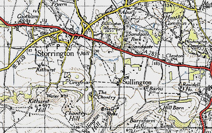 Old map of Abbots Leigh in 1940