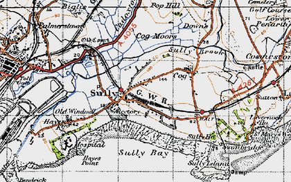 Old map of Sully in 1947