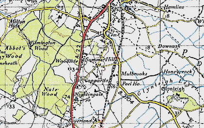 Old map of Wilmington Wood in 1940