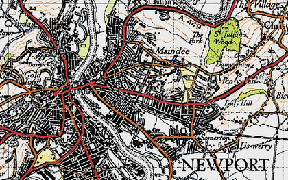 Old map of Summerhill in 1946