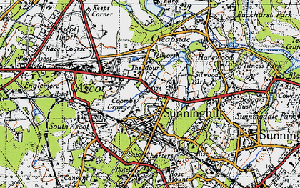 Old map of Sunninghill in 1940