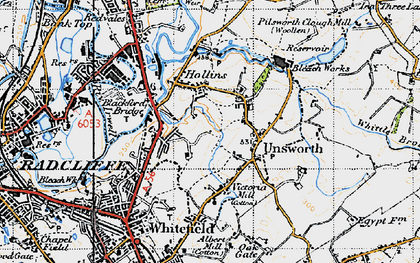 Old map of Thurston Fold in 1947