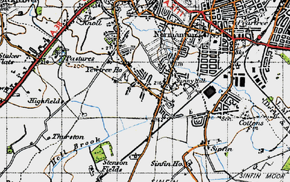 Old map of Sunny Hill in 1946