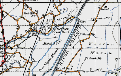 Old map of Wragg Marsh Ho in 1946