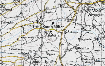 Old map of Bagton in 1946