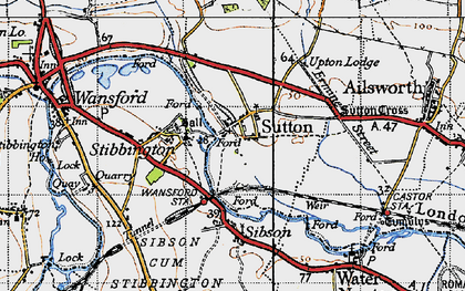Old map of Sutton in 1946