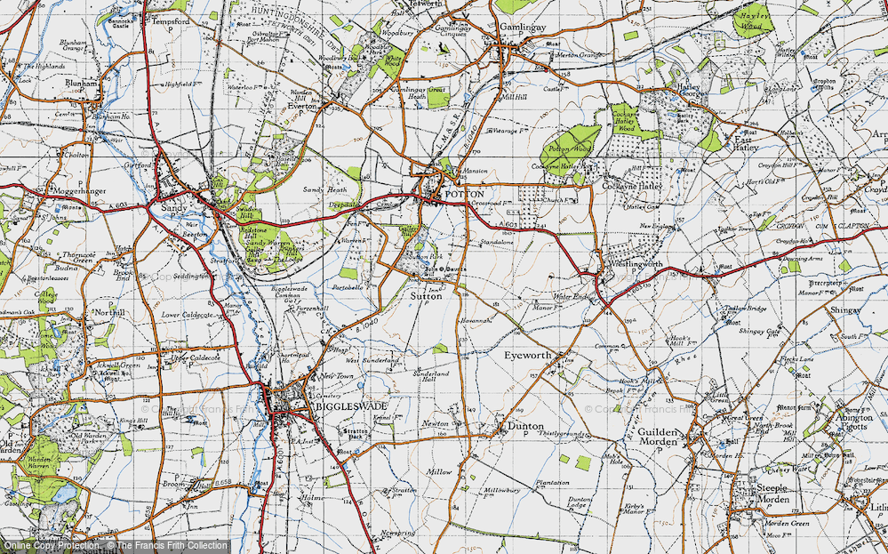 Old Map of Sutton, 1946 in 1946