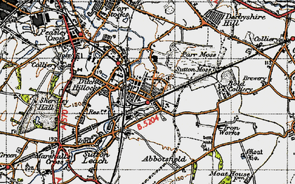 Old map of Sutton in 1947