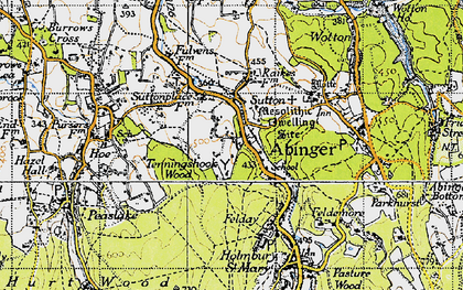 Old map of Sutton Abinger in 1940