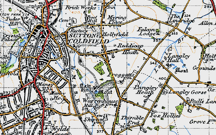 Old map of Sutton Coldfield in 1946