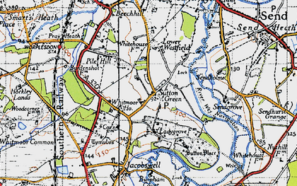 Old map of Sutton Green in 1940