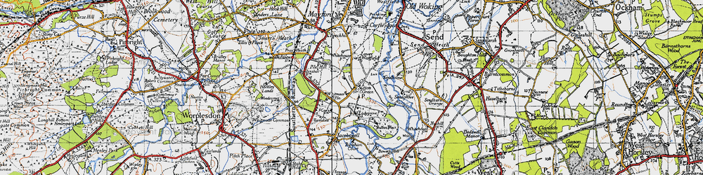 Old map of Whitmoor Ho in 1940