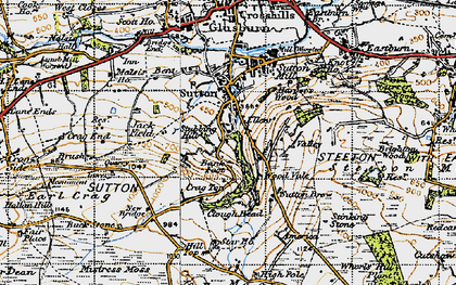 Old map of Sutton-in-Craven in 1947