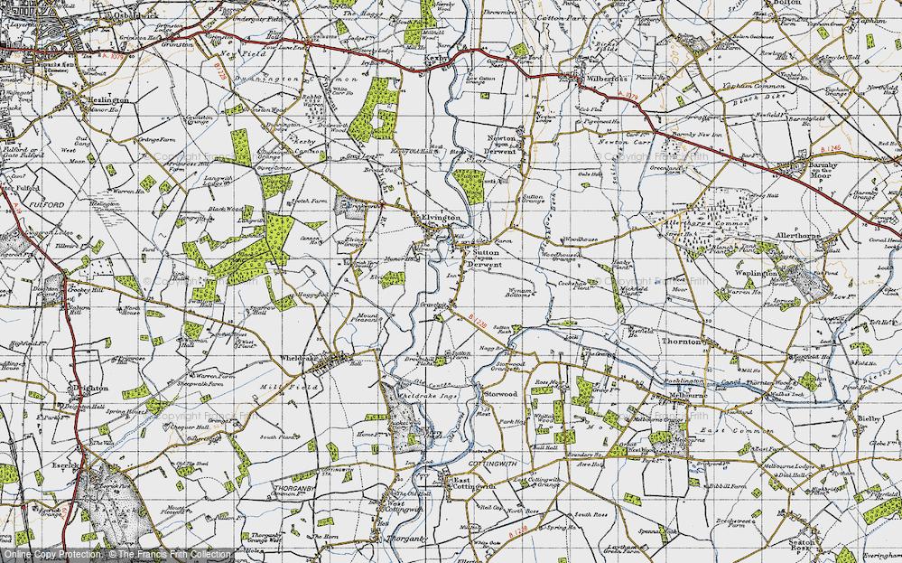 Old Map of Sutton upon Derwent, 1947 in 1947