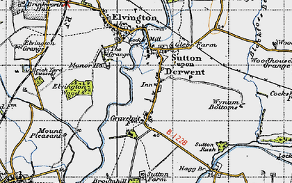 Old map of Wynam Bottoms in 1947