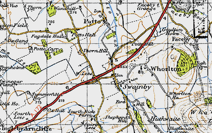 Old map of Swainby in 1947